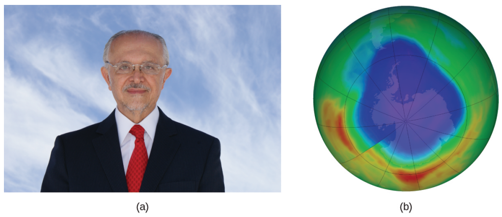 Mario Molina. A model of the Antarctic ozone hole.