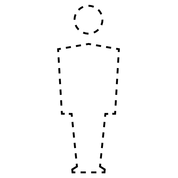 dotted outline of a person