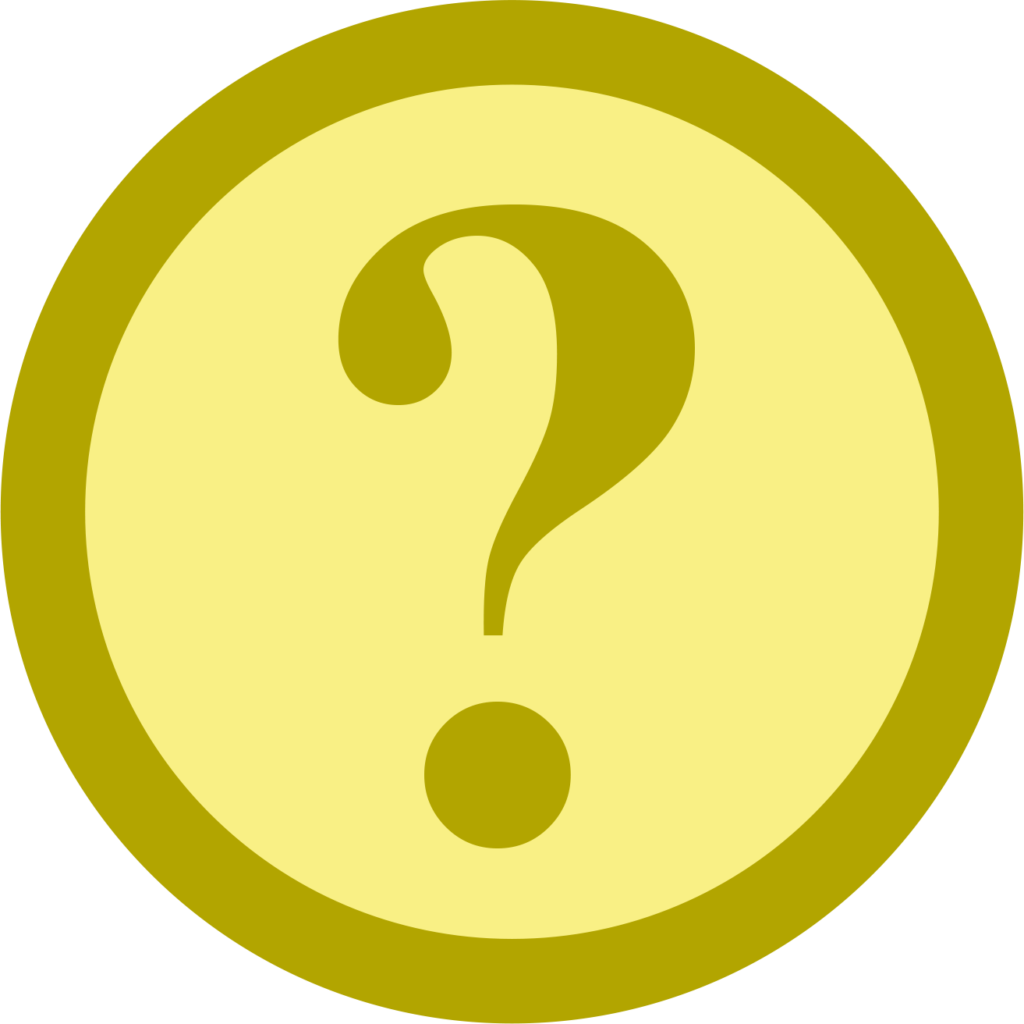 An icon showing a question mark