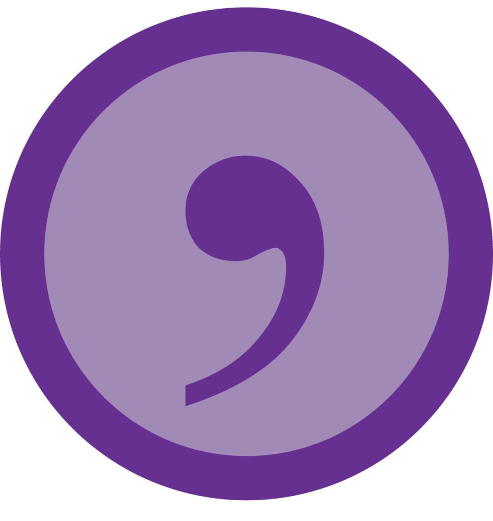 an icon showing a comma