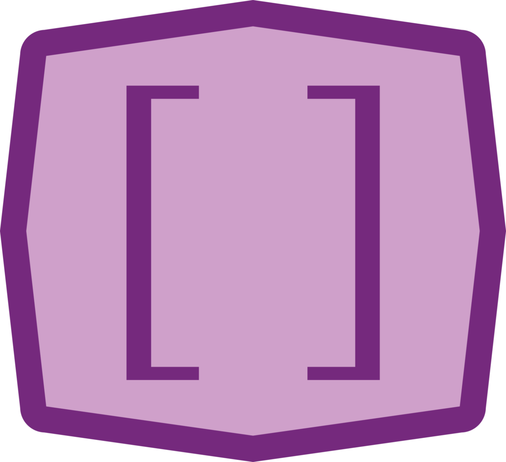 an icon showing opening and closing brackets