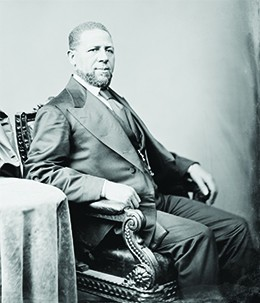 A photograph of Hiram Revels is shown.