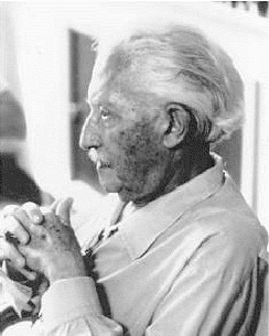 A photograph depicts Erik Erikson in his later years.