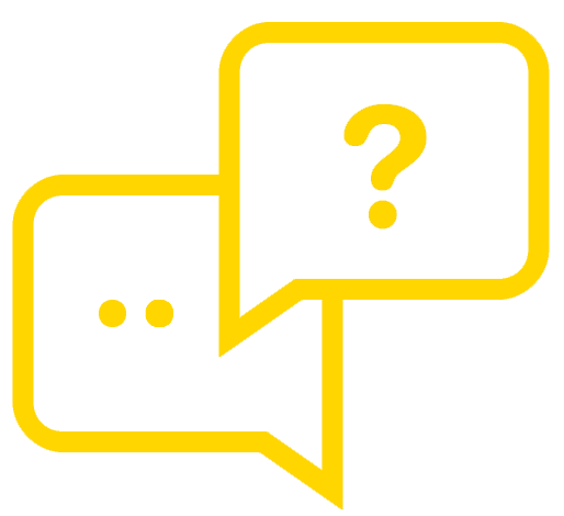 icon of two dialog boxes; one asking a question the other showing an elipsis