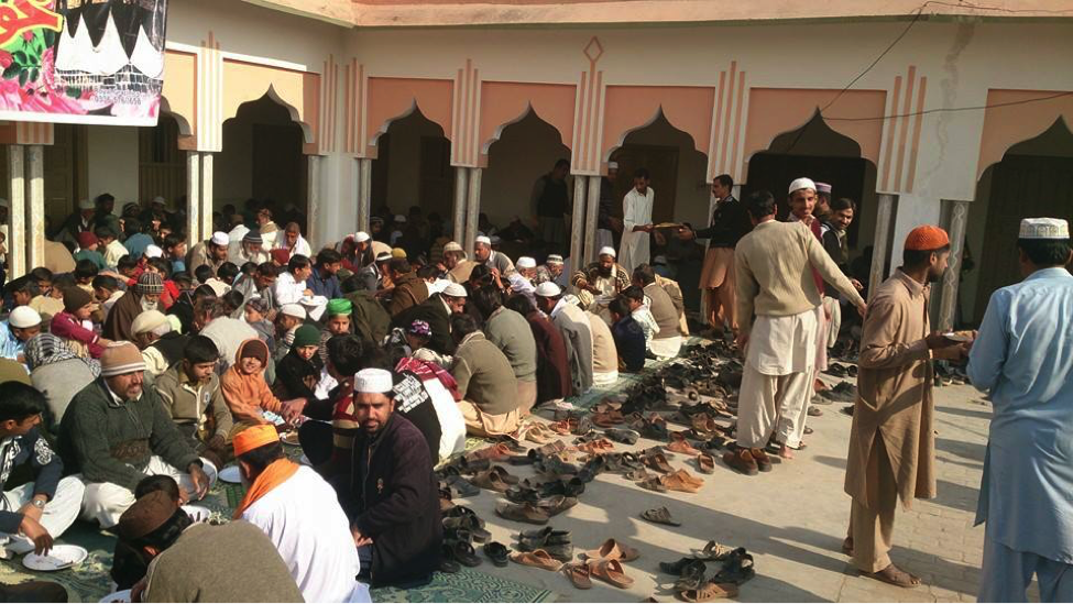 Gathering for religious function Mohra bakhtan