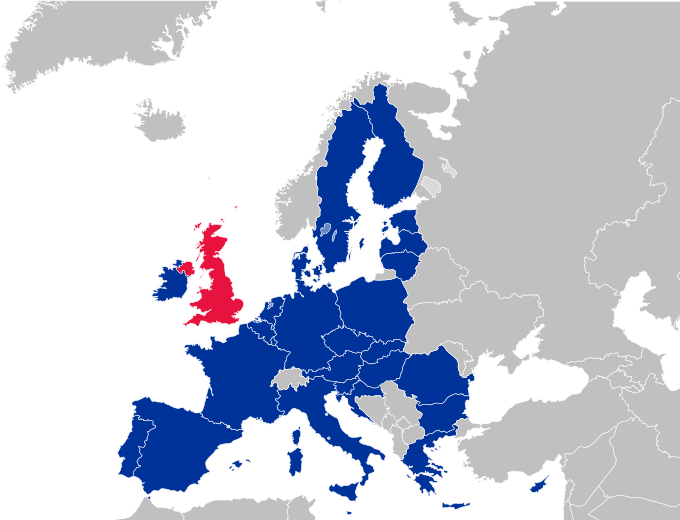 A map of the European Union is shown