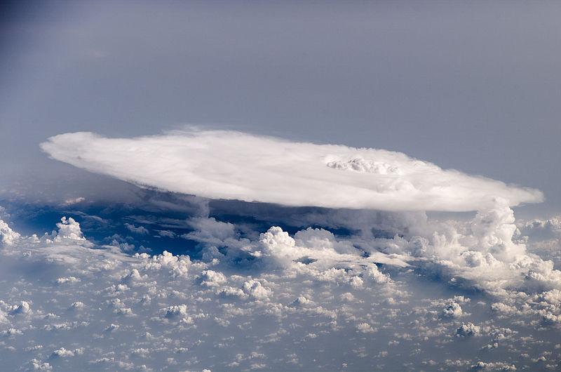 A large flat cloud