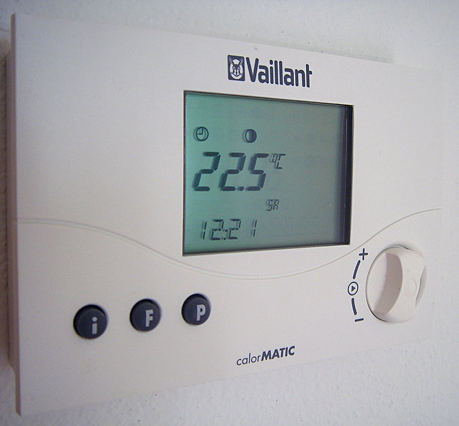 A simple wall-mounted digital thermometer
