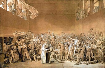Drawing by Jacques-Louis David of the Tennis Court Oath.