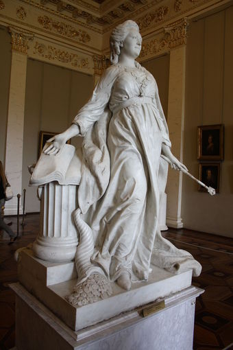 Marble statue of Catherine II in the guise of Minerva (1789–1790), by Fedot Shubin.