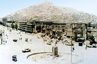A totally destroyed section of Kabul in 1993.