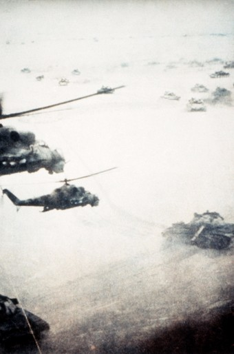Tanks and Helicopters during the Soviet-Afghan War