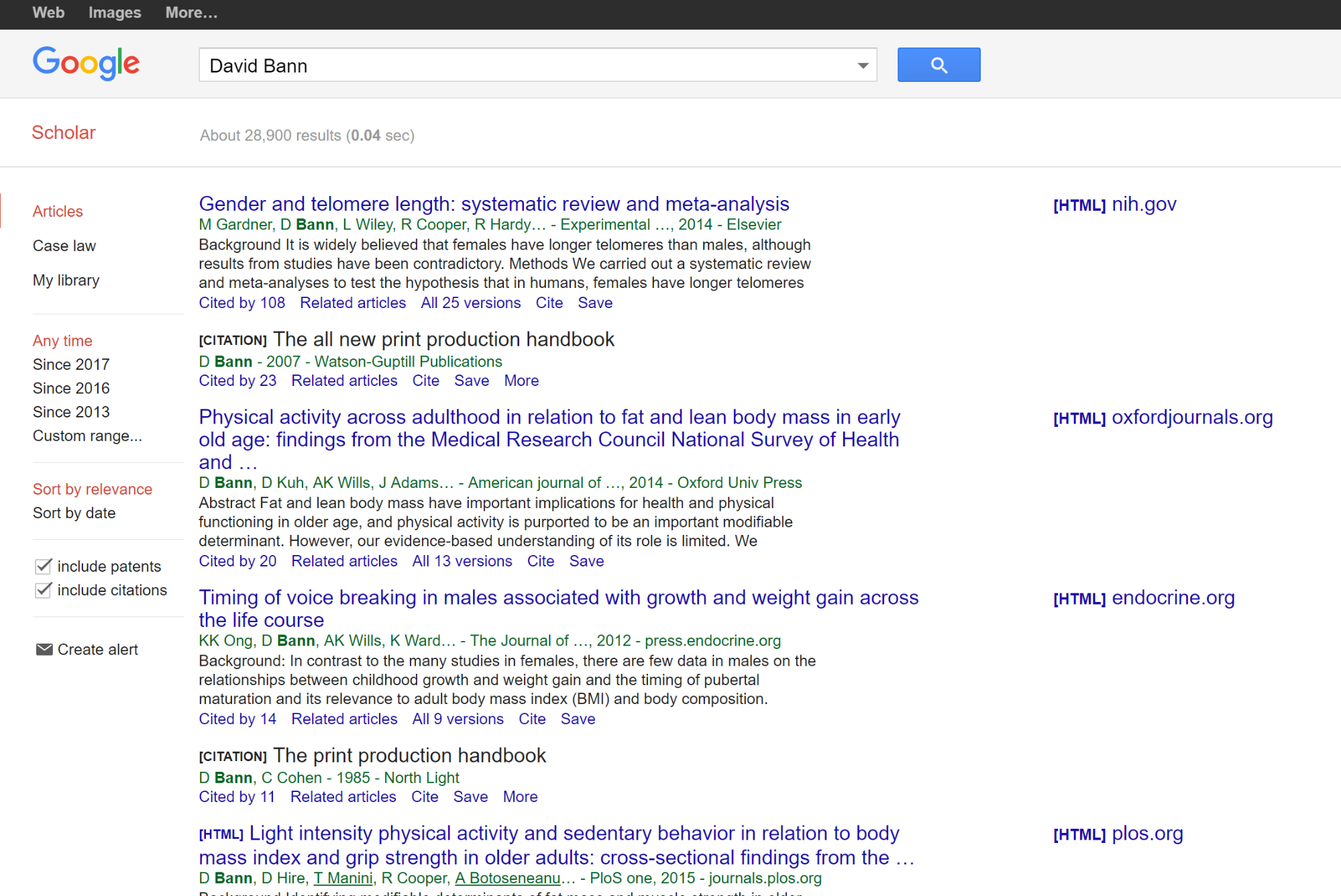 google scholar how to search by auther