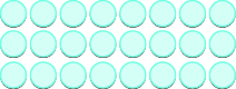 An image of 3 horizontal rows of counters, each row containing 8 counters.