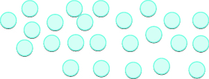 An image of 24 counters placed randomly.