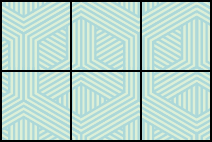 A rectangle is shown. It has 3 squares across and 2 squares down, a total of 6 squares.