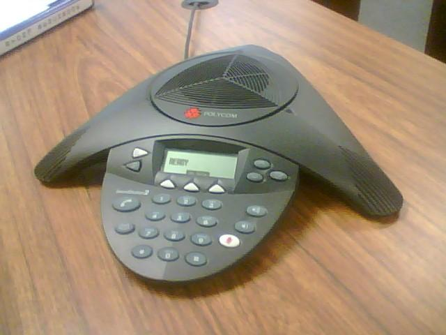 A phone made specifically for conference call.