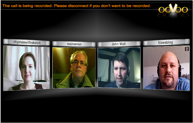 A video conference.