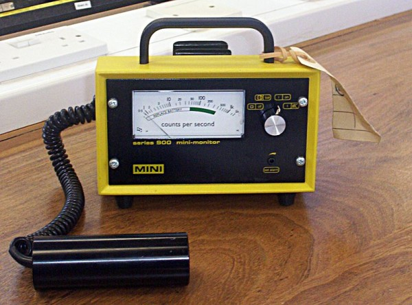"""A Geiger counter is a common instrument used to detect radioactivity. Source: """"Geiger counter"""" by Boffy B is licensed under the Creative Commons Attribution-Share Alike 3.0 Unported license."""