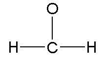 Lewis diagram shown. Central atom is carbon, bonded to one oxygen and two hydrogens.