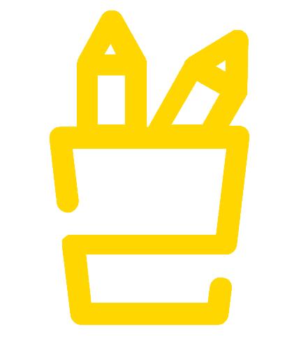 icon of a pencil cup