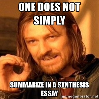 Synthesis Introduction  Writing  Synthesis Is Not Summary