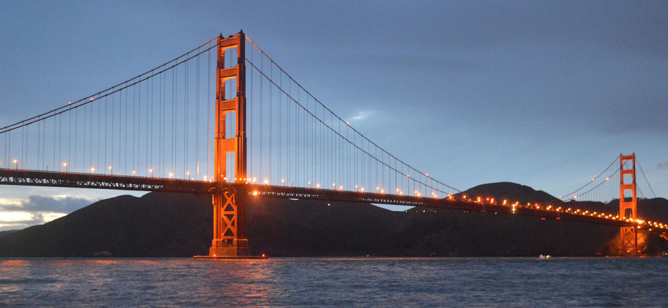 A photograph of the Golden Gate Bridge.