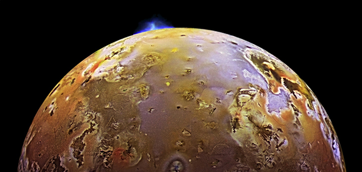 A photo of an eruption on Io.