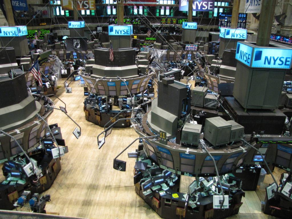 The NASDAQ stock exchange.