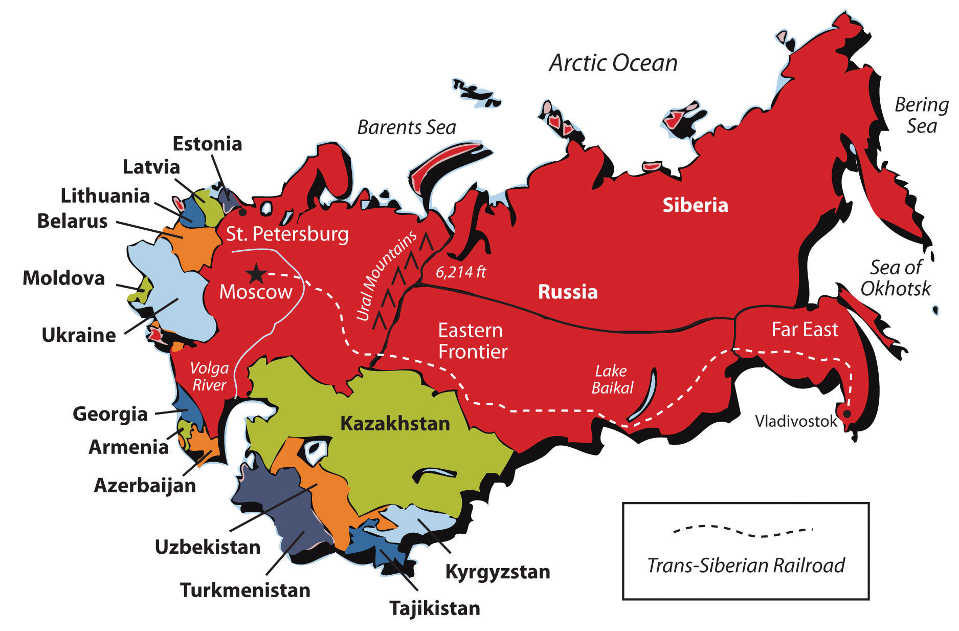 The region is a separate territory. History of the formation of regions in Russia