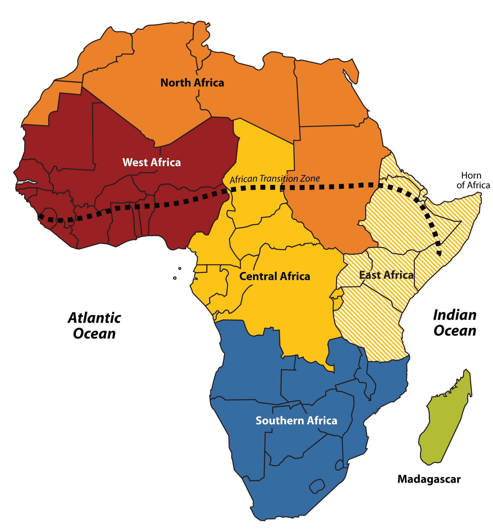 Map Of Africa Regions.7 1 Introducing The Realm World Regional Geography People Places