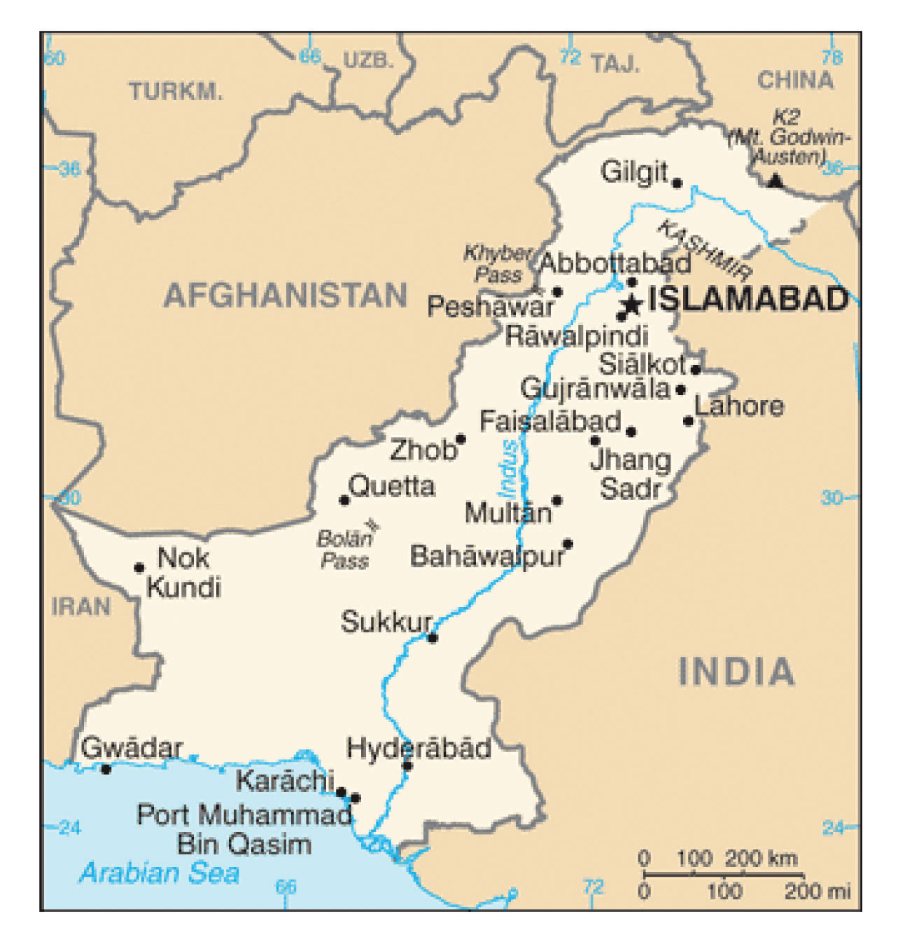 Islamabad Pakistan Map: 9.3 Pakistan And Bangladesh