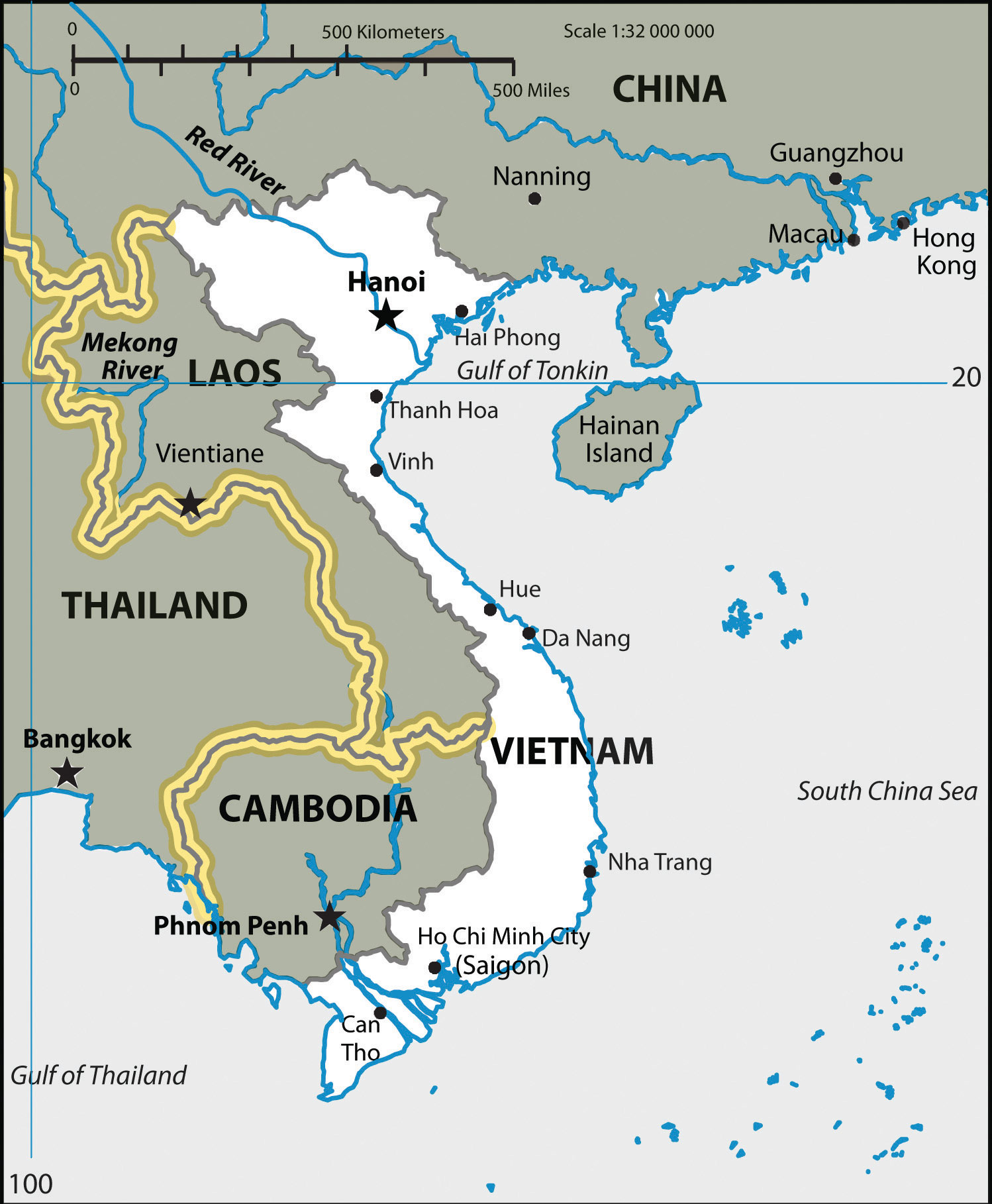 Map Of Asia During The Vietnam War Map Of Asia Mountains And