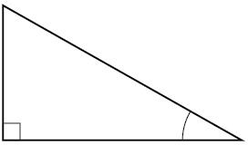 A right triangle.