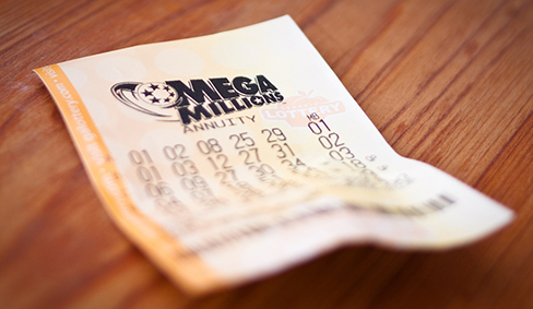A mega-millions lottery ticket.