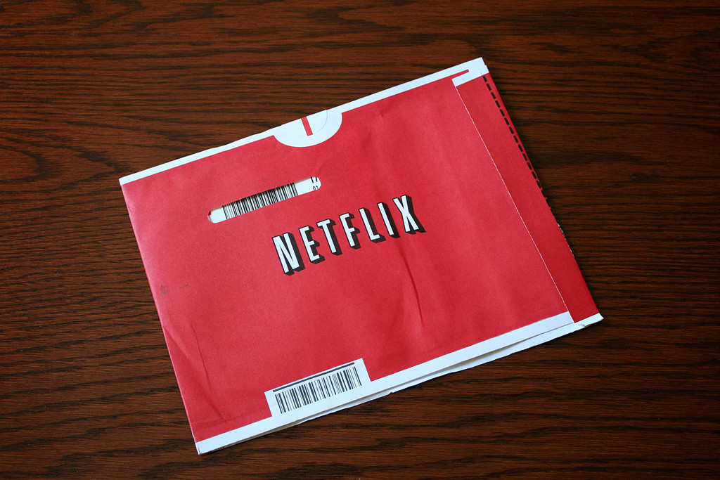 This is a photograph of Netflix packaging.