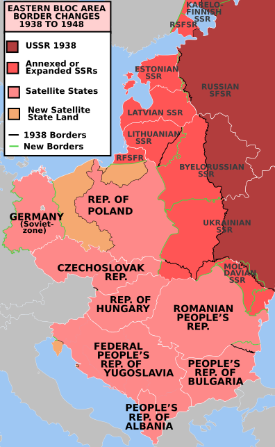 A map depicting the Socialist Republics of the Soviet Union.