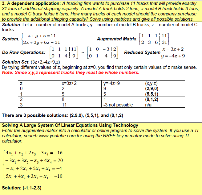 Solving Systems Of Equations Using Augmented Matrices Calculator - Tessshebaylo