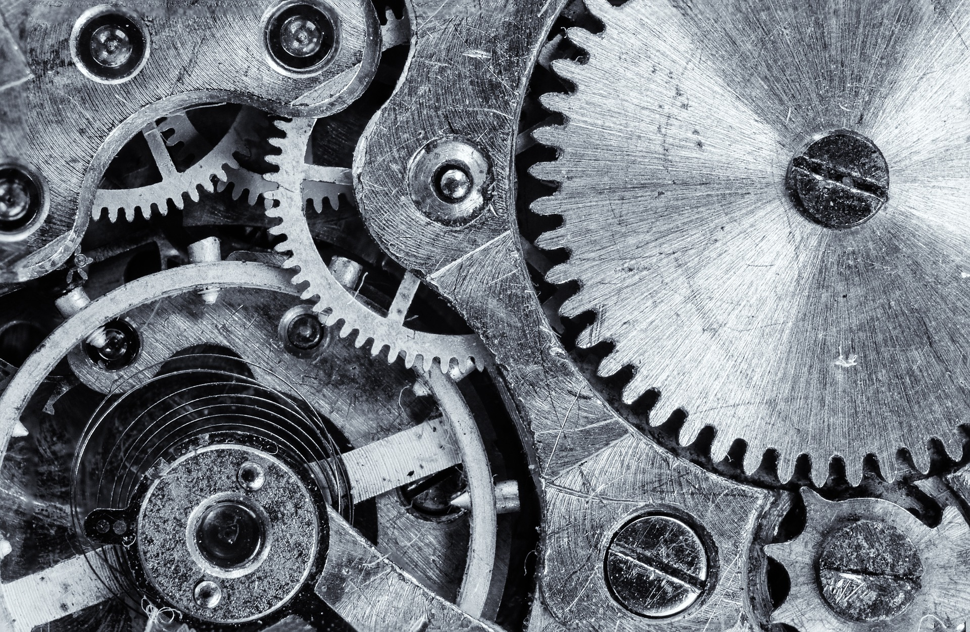 Close up photograph of gears