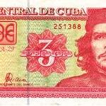 Close-up of Cuban 3 peso note