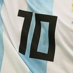 Close-up of Lionel Messi's number 10