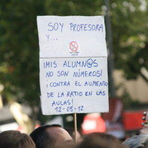 Sign reading: soy professora mis alumn@s no son números