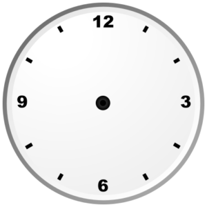 Image of clock face with no hands