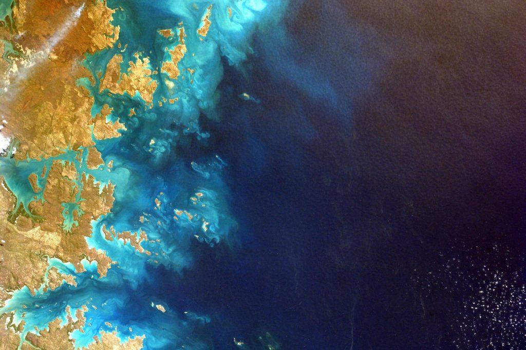 Satellite image of a coastal area