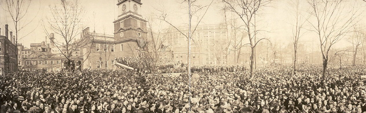 Patriotic Rally of the citizens of Philadelphia for the Home Defense Committee, March 31, 1917 (Library of Congress Panoramic Photographs Collection)
