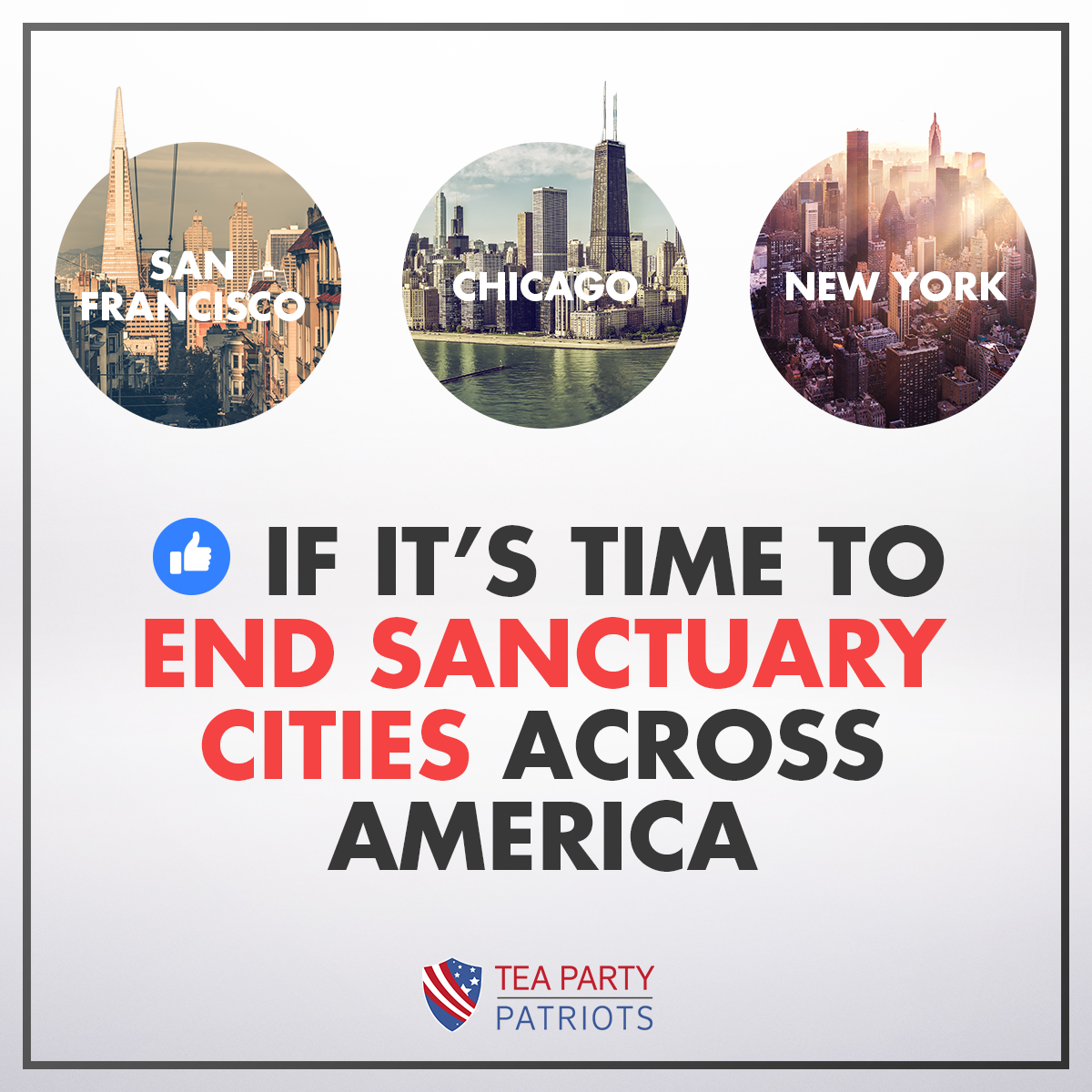 "Photo of poll taken by the Tea Party Patriots regarding the controversial issue of sanctuary cities. Interest groups often arise from what is known as the ""grassroots"" level with individual citizens banding together for a common cause. Credit: Tea Party Patriots at https://www.facebook.com/teapartypatriots/"