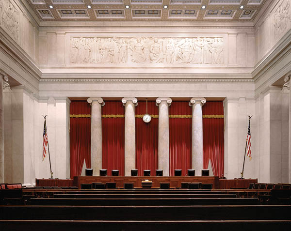 Photo of the interior of the Supreme Court
