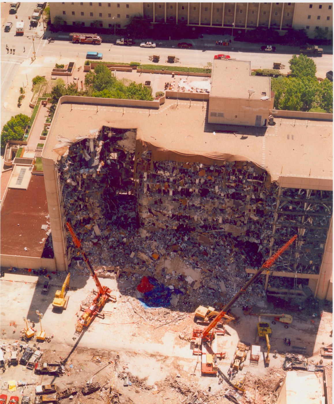 Photo of Oklahoma City bombing site--Alfred P. Murrah Federal Building