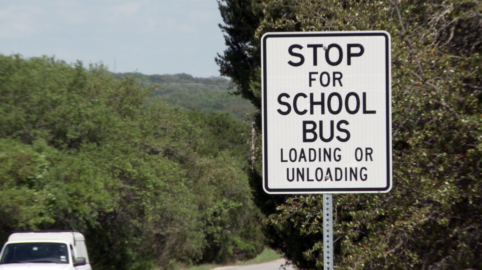 Stop for School Bus Loading or Unloading at http://www.txdot.gov/driver/kids-teens/school.html.