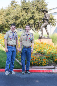 Boy Scouts at the National Headquarters in Irving Texas